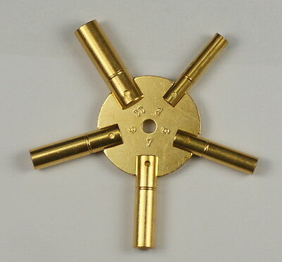 CLOCK SPIDER KEYS BRASS WINDING KEYS 3-11 ODDS key winders old clocks key wind