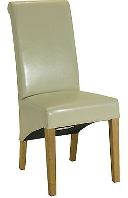 Farrow set of two cream rollback dining chairs solid oak furniture