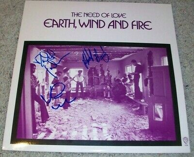 EARTH WIND AND FIRE SIGNED AUTOGRAPH THE NEED OF LOVE ALBUM w/EXACT VIDEO PROOF