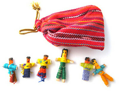 Fair Trade - 2 (TWO) Pouches of Guatemalan Worry People / Worry Dolls