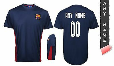Personalised Barcelona Fc 100% Official Football T Shirt Genuine Top Any Name