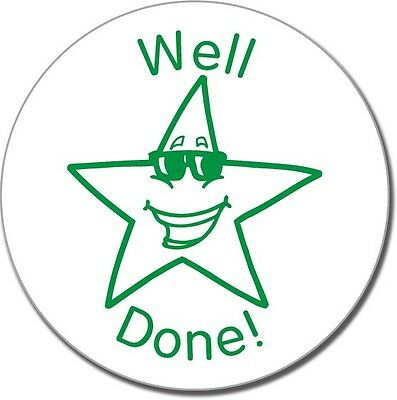 ST65 Well Done Star Pre-inked School Marking Stamper