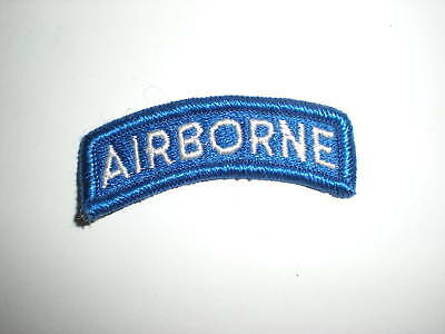 U.s. Army Airborne Tab Patch - Full Color - White/blue