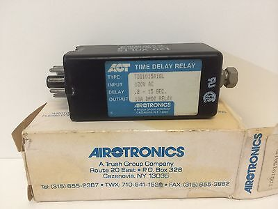 New Old Stock Airtronics Time Delay Relay Tdq1015A1Sl 10A 120Vac .2-15Sec Dpdt