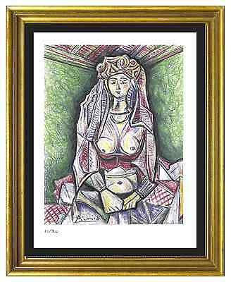 """Pablo Picasso Signed/Hand-Numberd Ltd Ed """"Woman Algiers """" Litho Print (unframed)"""