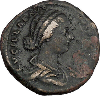 LUCILLA  Daughter of Marcus Aurelius Big Ancient Roman Coin VESTA Rare  i42127