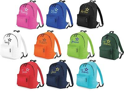 Personalised Childrens Fashion School Backpack Embroidered Kids School Bag Sport