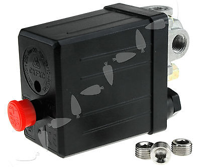 Single Phase Air Compressor Pressure Switch 175PSI+1/4 BSP Blanking Plugs