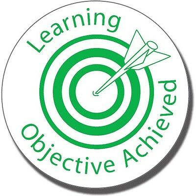ST31 Learning Objective Achieved Pre-inked School Marking Stamper