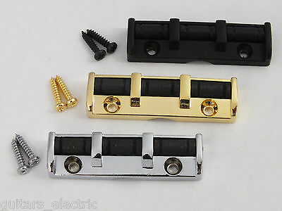 Electric Guitar 3 Saddle Roller Nut in Chrome, Black or Gold, Strat Tele upgrade