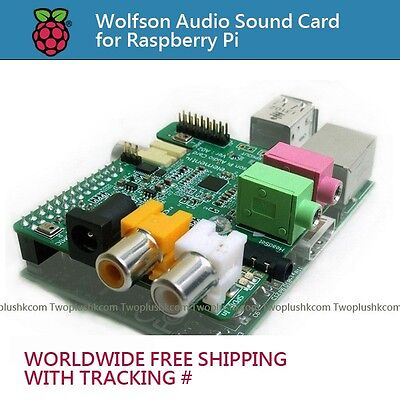 Wolfson Audio Sound Card for Raspberry Pi (WORLDWIDE FREE SHIPPING)