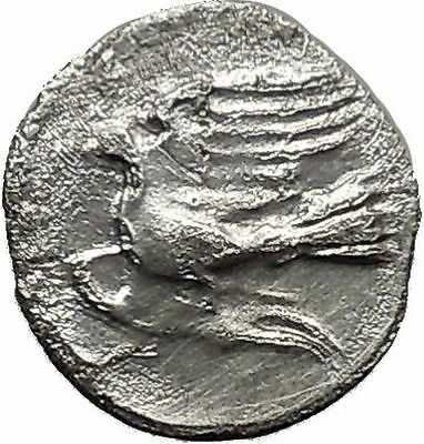 Sikyon Sikyonia 370BC Obol Authentic Ancient Silver Greek Coin with Dove i36624