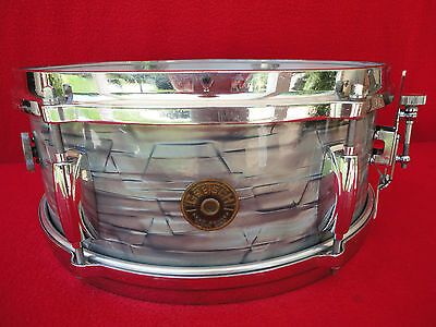 "1960s VINTAGE GRETSCH 14""x 5""deep SNARE DRUM MODEL#4105 ROUND BADGE ERA USA MADE"