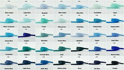 5yds--10mm Blue/Navy/Turquoise/Jade/Royal Grosgrain Ribbon 19 COLOURS U PICK