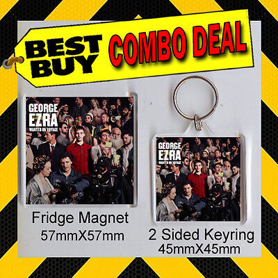 Wanted On Voyage George Ezra - Combo Deal Fridge Magnet And Keyring- Cd Cover