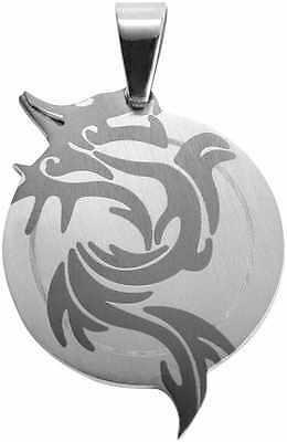 Dragon Pendant in Stainless Steel / Black