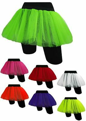 016e4ec9e5 NEON Pink TUTU SKIRT 80s FANCY DRESS HEN PARTY RAVE 80's ACCESSORIES FUN RUN  FLO