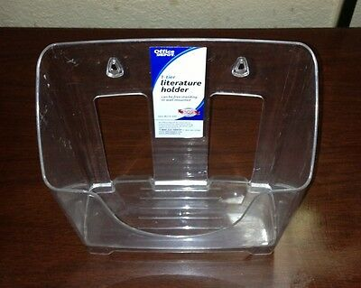 Clear Plastic Acrylic Desktop Tabletop or Wall Mount Literature Stand Holder