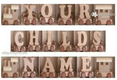 Wooden Personalised Name Train  - Alphabet - Your Childs Name - U Choose Letters