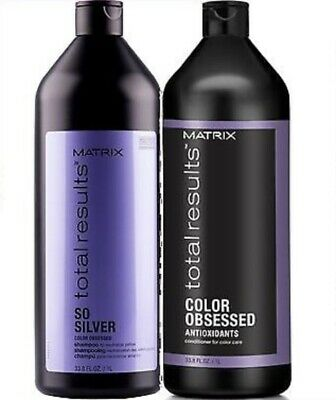 Matrix Total Results So Silver Color Obsesed Shampoo Conditioner 1000ml 1 litre