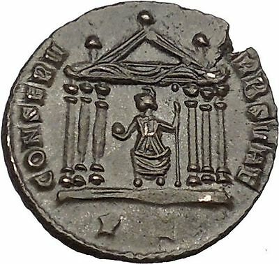 Maxentius 308AD Ancient Roman Coin Temple of Roma with six columns i41824