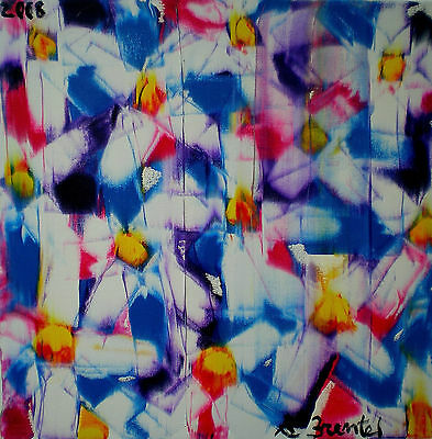 2008 A.Brentel FLOWERS 60x60 (Oil on Canvas)