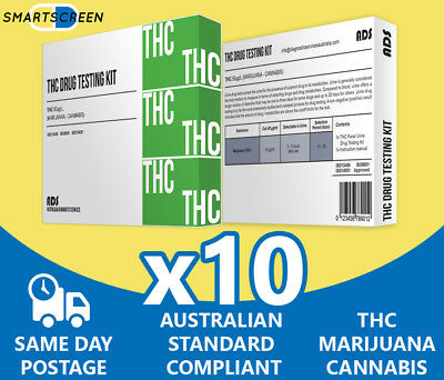 10x THC Marijuana,Cannabis Urine Drug Test Kit, Drug Test for Drug Testing Kits