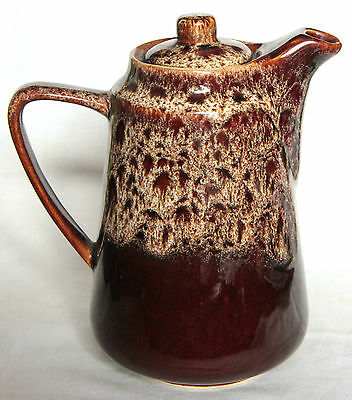 Vintage Brown Honeycomb Coffee Pot - Fosters Pottery