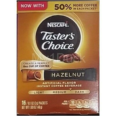 Taster's Choice Hazelnut Instant Coffee Single Serve Packets ~ 16 ct.