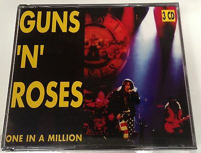 GUNS N' ROSES - ONE  IN A MILLION - 3 CD LIVE 1991 NO CDr RARO SEALED MINT