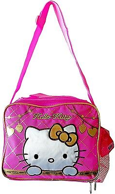 Sanrio Hello Kitty Lunch Box insulated lunchbag bag shoulder strap Licensed new