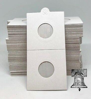 100 Penny Cent & Dime 2x2 Self Adhesive Paper Coin Holder Flip Lighthouse 20mm