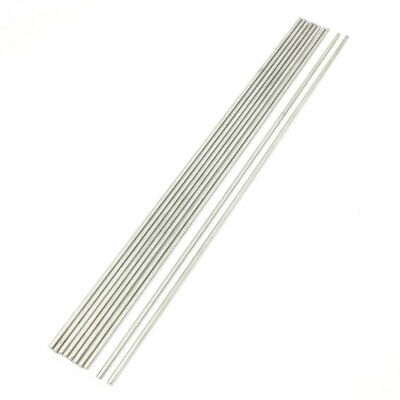 10 Pcs Stainless Steel 300x3mm Round Rod for RC Airplane