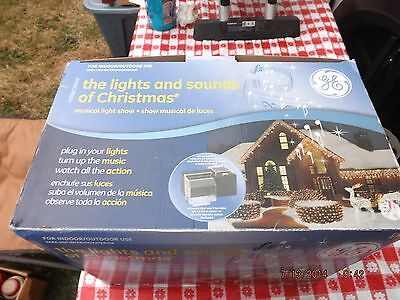 GE Pro-Line Lights and Sounds of Christmas Music Light Show 20 Songs