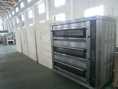 Homat  3 deck gas glass oven  Stainless steel pizza oven