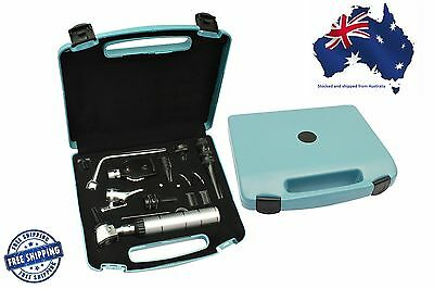 Veterinary Otoscope Ophthalmoscope Nasal Larynx Diagnostic Set EENT UK Branded