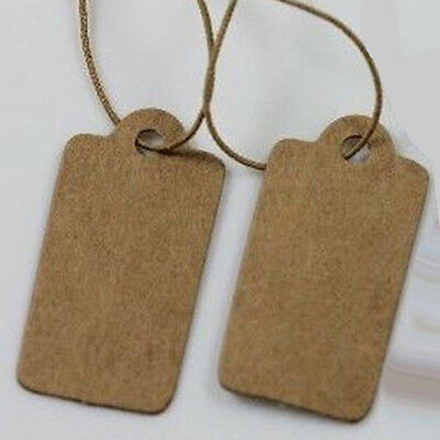 Accessories Jewelry Elastic Pre-Strung Paper Price Label Kraft Hang Tag 30X15MM