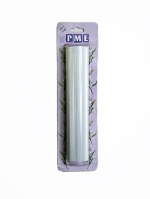 "Rolling Pin Ribbed Smocking 9.5"" Aluminum Cake Decorating Fondant Icing by PME"