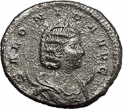 SALONINA Valerian I daughter in law  Silver Ancient  Roman Coin Juno i42312