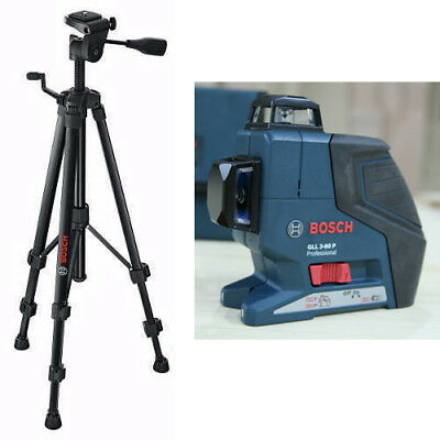 Bosch GLL3-80 Degree Vertical and Horizontal Line + Laser Level Tripod BT150