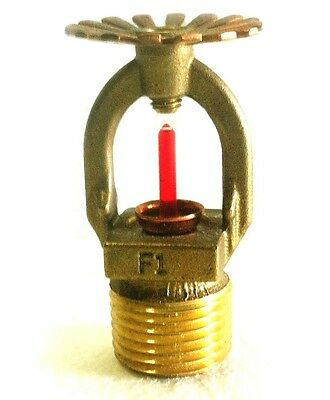 "1/2"" 155*F Quick Response Brass Pendent Fire Sprinkler Head Reliable RASCO F1FR"