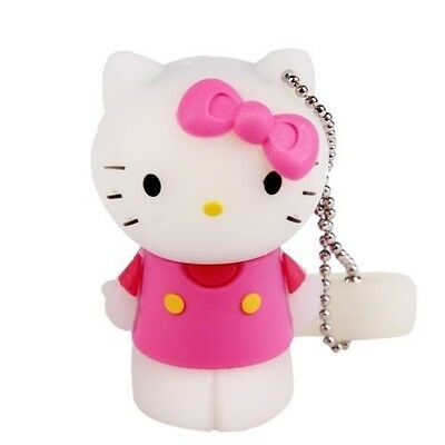 NEW Hello kitty 3D 4GB USB 2.0 Silicone Flash Drive with Keychain