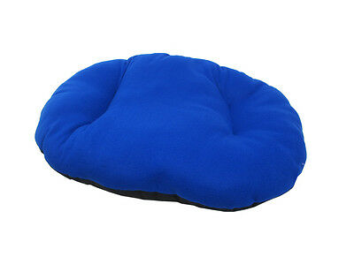 New!!!  Large Blue Fleece Dog /  Cat Bed Cushion To Put In Bottom Of Basket