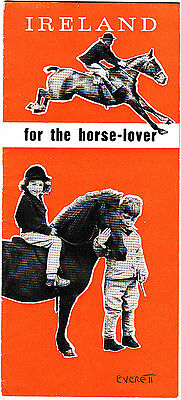 Ireland For The Horse-Lover Vintage Brochure 1958 B&W Photographs