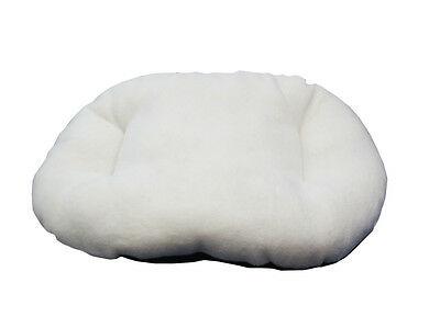 New!!! Xl / Extra Large Cream Fleece Dog /  Cat Bed Cushion For Bottom Of Basket