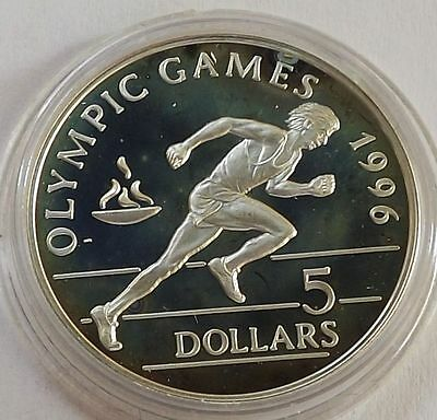 Niue 1992 5 Dollars Olympic Games, Sprinter Proof Silver |C4526