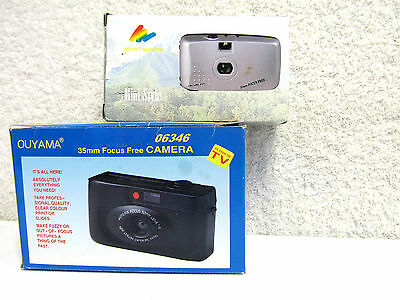 Two 35mm Focus Free Cameras New Still in Box