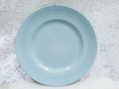 """Wood & Sons Iris - 2 Entree Plates (8 7/8"""") blue pastel ware a/f"""