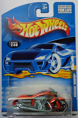 2000 Hot Wheels Scorchin' Scooter Col. #240 ('01 Card)