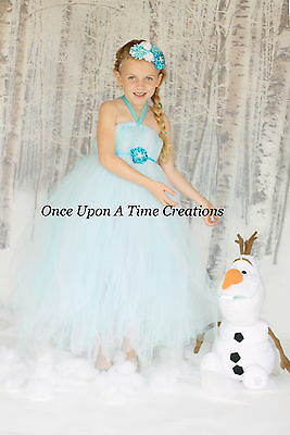 Snow Flake Princess Tutu Dress 12M 18M 2T 3T 4T 5T 6 8 10 12 Halloween Costume